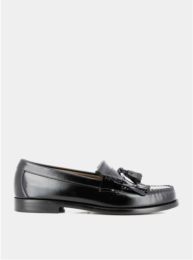 Black Leather Layton II Loafers