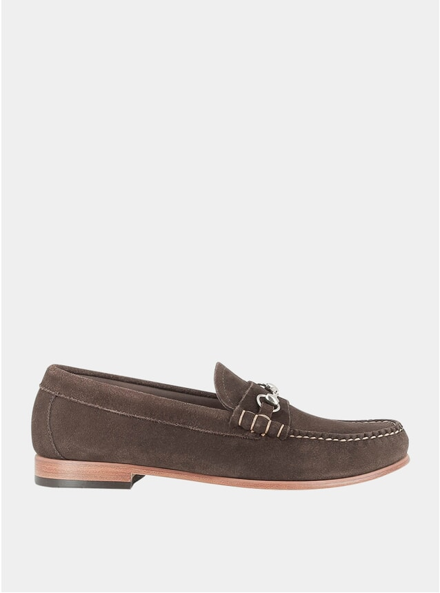 Dark Brown Palm Springs Lincoln Reverso Loafers