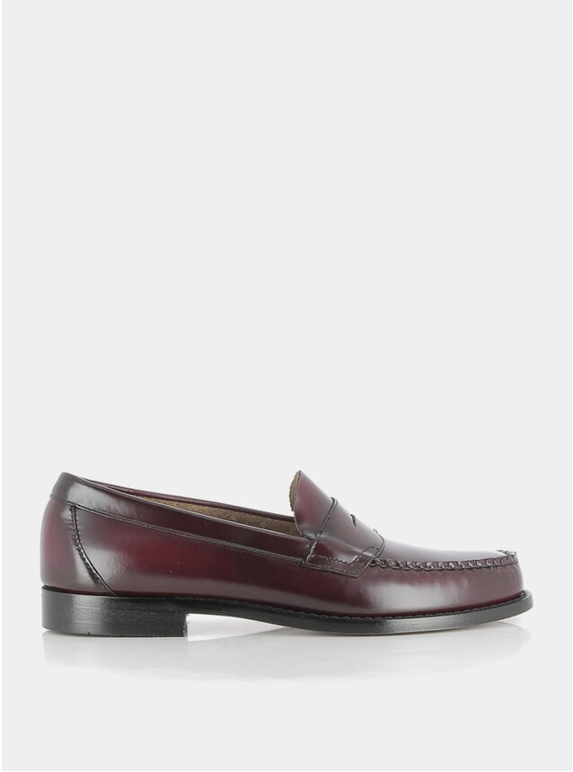 Wine Leather Logan II Loafers