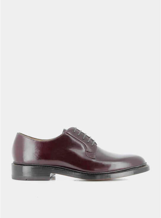 Wine Monogram Derby Shoes