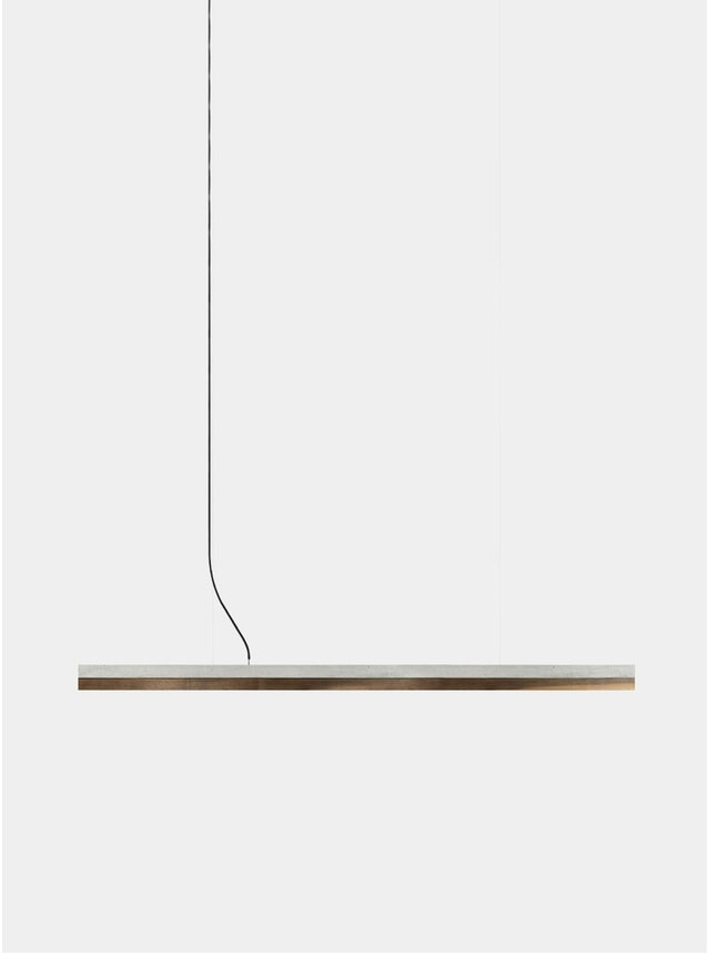Chestnut / Concrete C3 Large Pendant Light