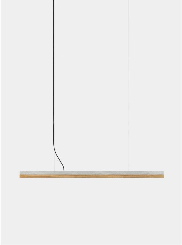 Concrete / Oak C3 Large Concrete Pendant Light