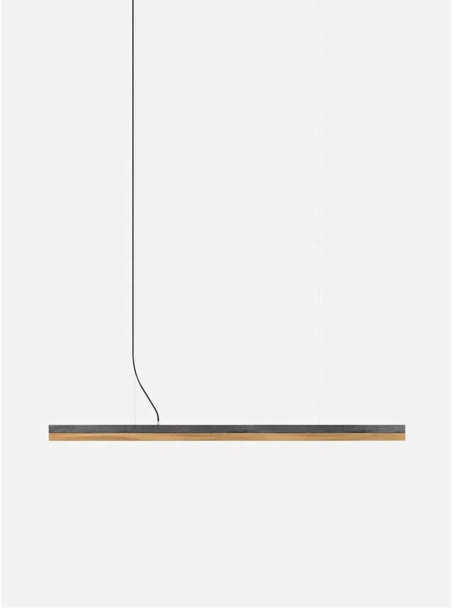 Dark Concrete / Oak Pendant C3 Large Pendant Light