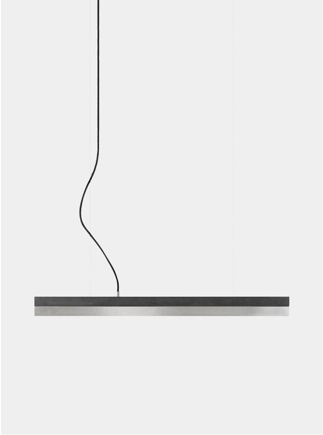 Dark Concrete / Stainless Steel Small C2 Pendant Light
