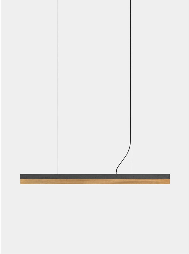 Dark Grey Concrete / Oak C1 Pendant Light
