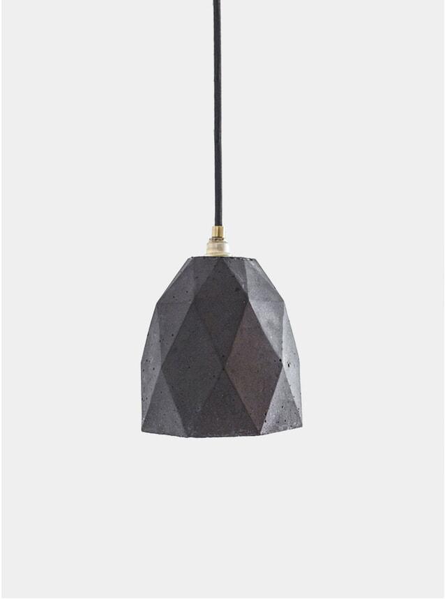 Light Grey Concrete T1 Trianglulated Pendant Light