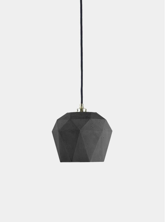 Dark Grey Concrete T3 Triangle Pendant Light