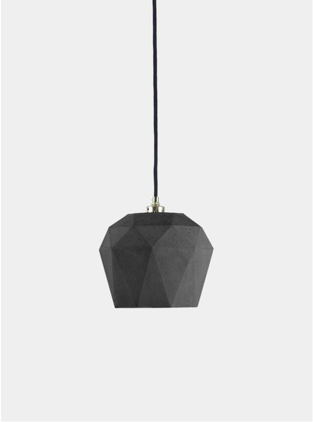 Dark Grey Concrete  / Silver T3 Triangle Pendant Light