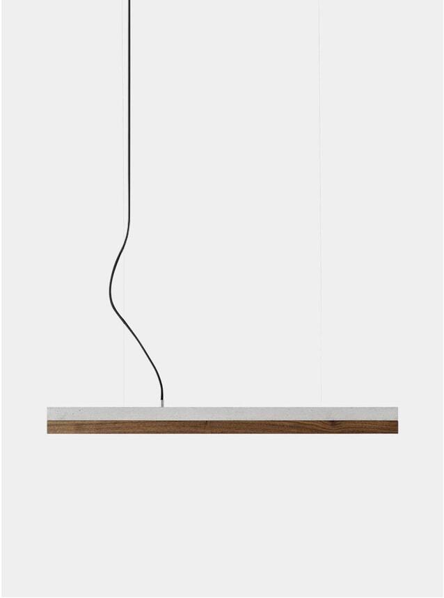Light Grey Concrete / Chestnut Small C2 Pendant Light