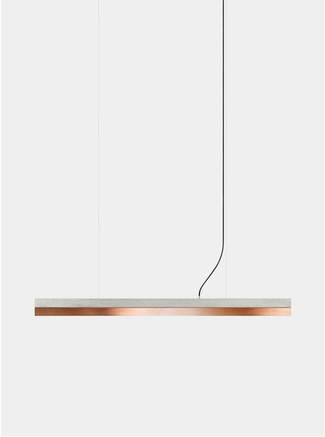 Light Grey Concrete / Copper C1 Pendant Light