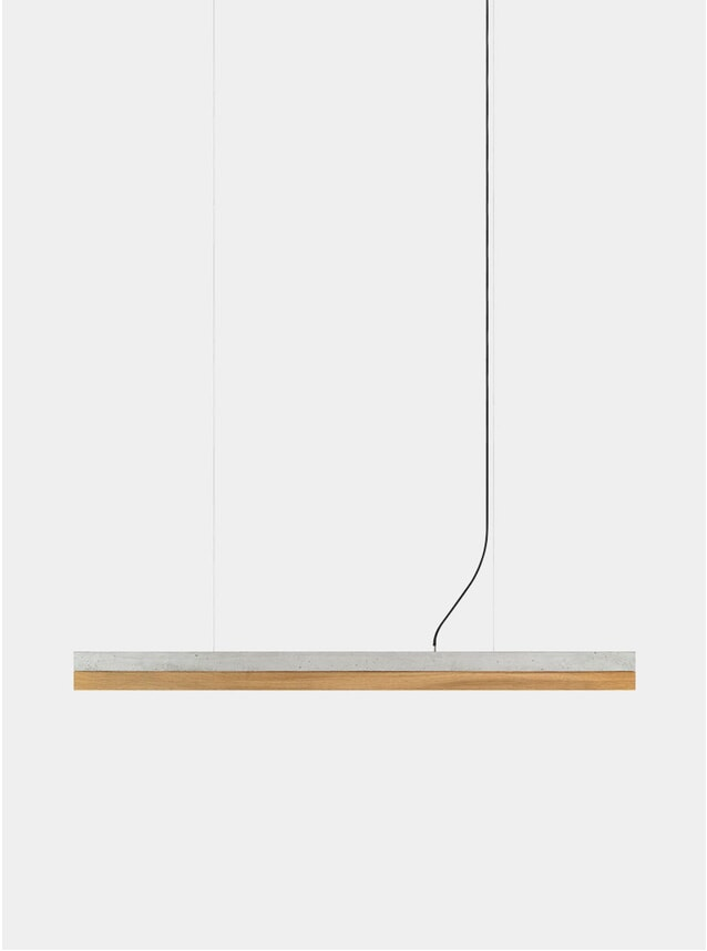 Light Grey Concrete / Oak C1 Pendant Light