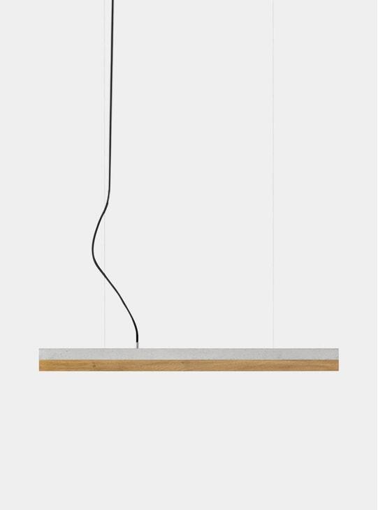 Light Grey Concrete / Oak Small C2 Pendant Light