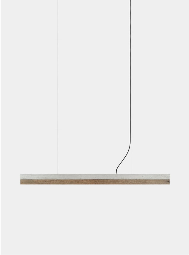 Light Grey Concrete / Old Wood C1 Pendant  Light