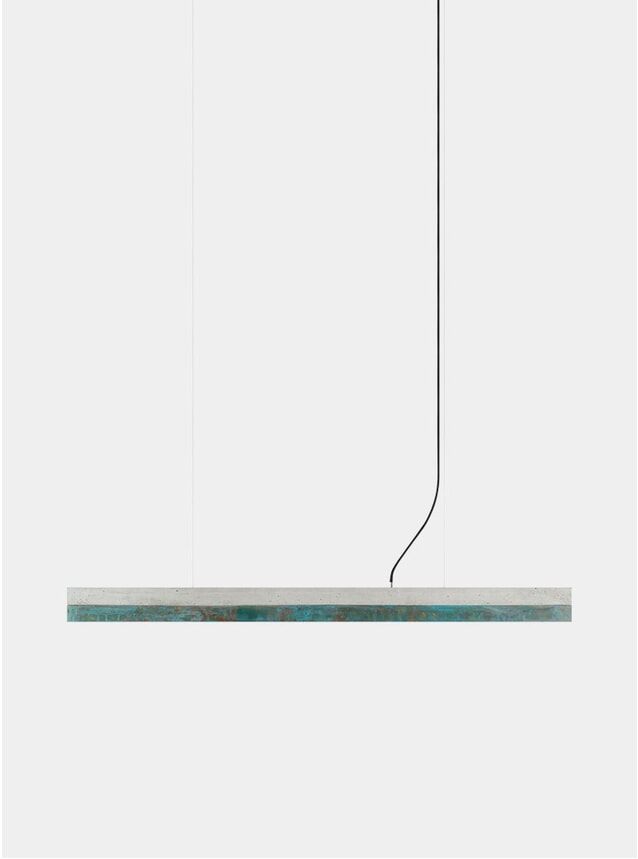 Light Grey Concrete / Oxidized Copper C1 Pendant Light