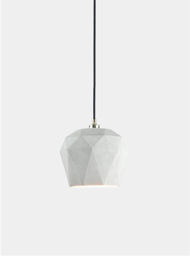 Light Grey Concrete / Silver T3 Triangle Pendant Light