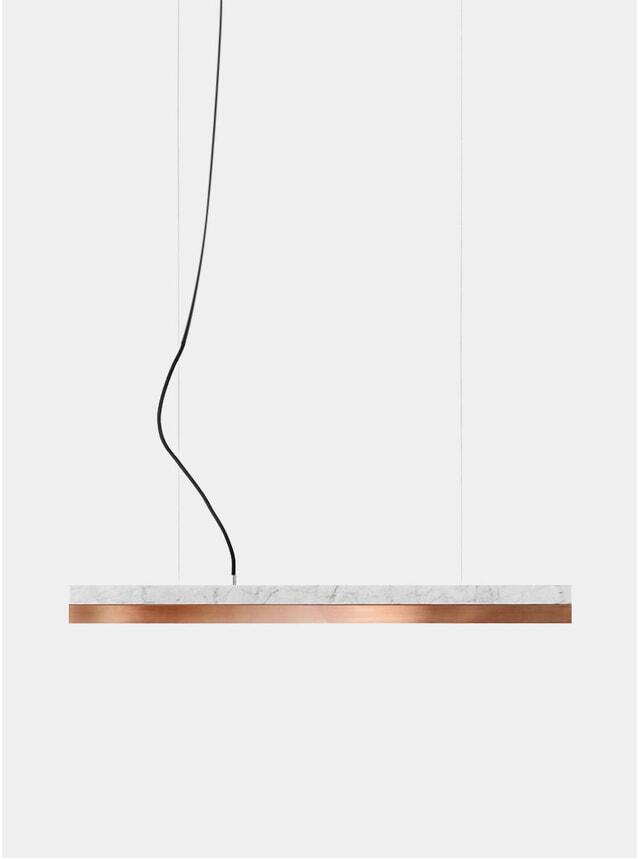 Light Marble / Copper Small C2 Pendant Light