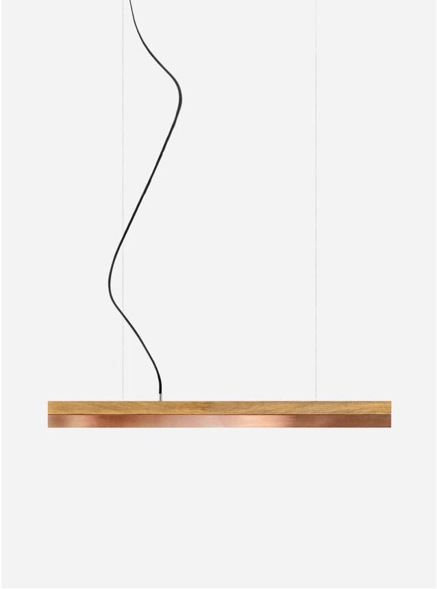 Light Oak / Copper Small C2 Pendant
