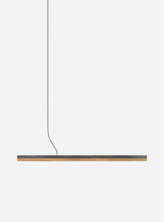 Light Oxidized Copper / Oak C3 Long Pendant Light