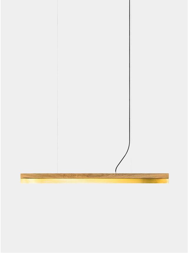 Oak / Brass C10 Pendant Light