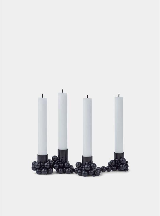 Black Molekyl 4 Candleholder