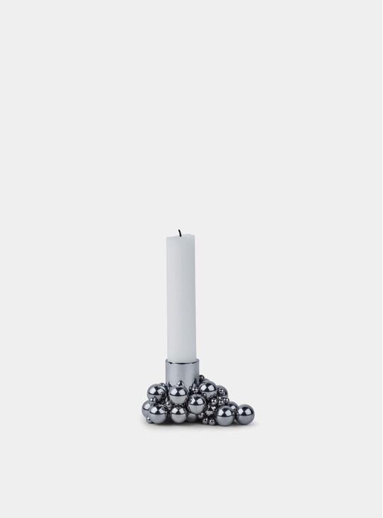 Chrome Molekyl Candleholder