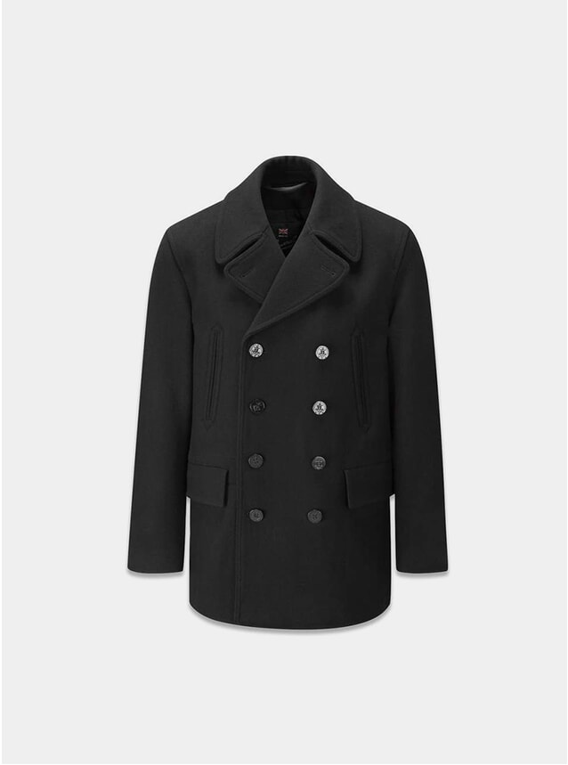 Black Churchill Peacoat