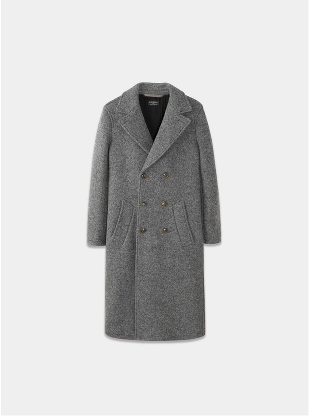 Grey Grayson Long Peacoat