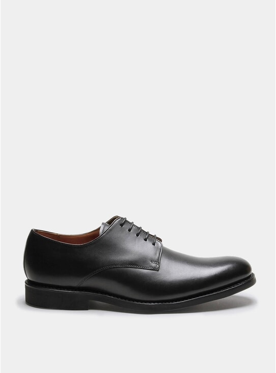 Black Calf Leather Toby Shoes