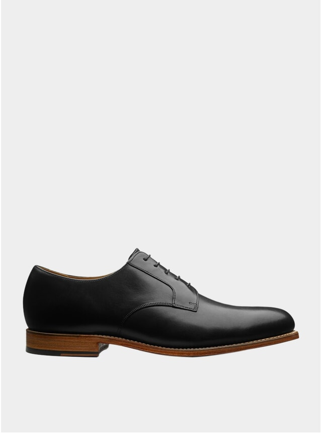 Black Leather Liam Shoes