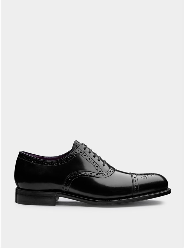 Black / Purple Walbrook Shoes