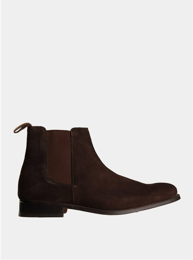 Chocolate Brown Declan Suede Chelsea Boots