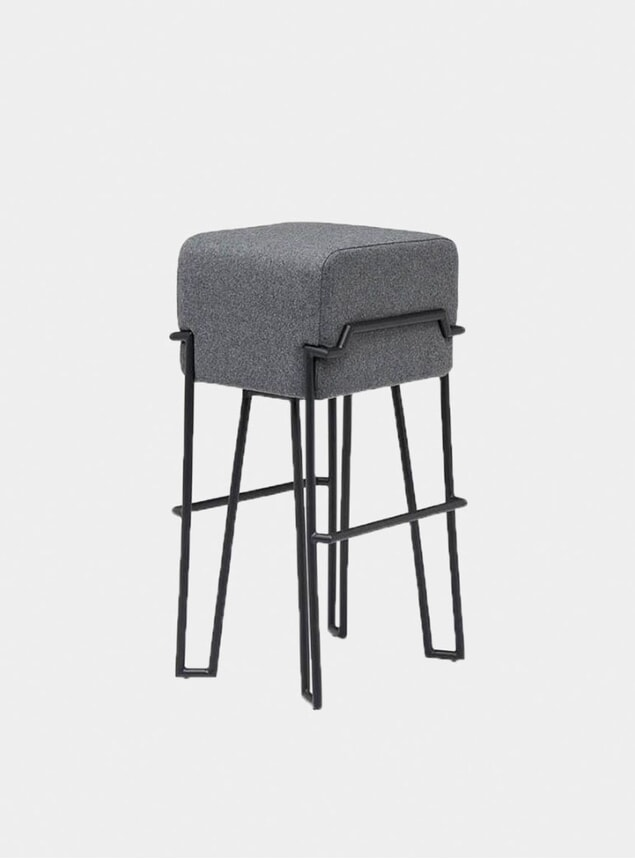 Grey  Felt Bokk Bar Stool