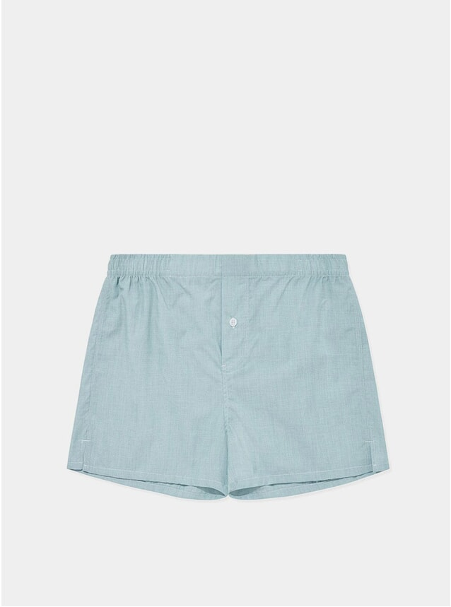 Green Weave Boxer Shorts