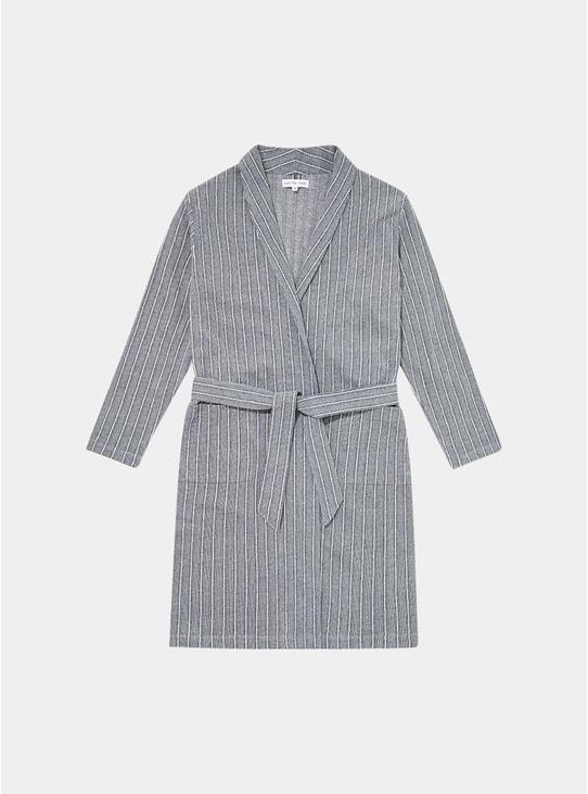 Grey Decking Stripe Relax Robe