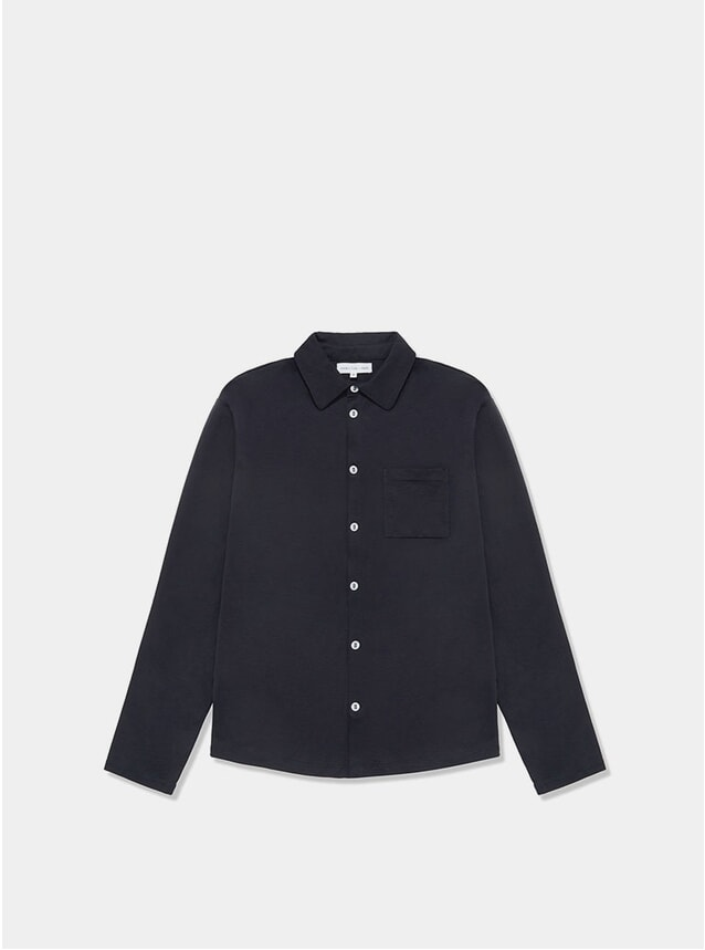 Navy Slip-On Shirt