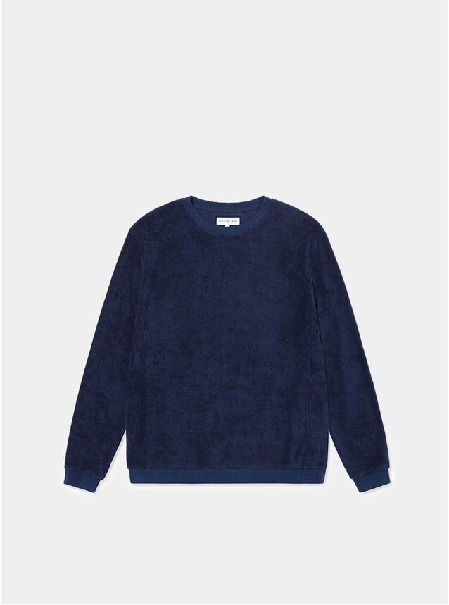 Navy Terry Towelling Sweatshirt
