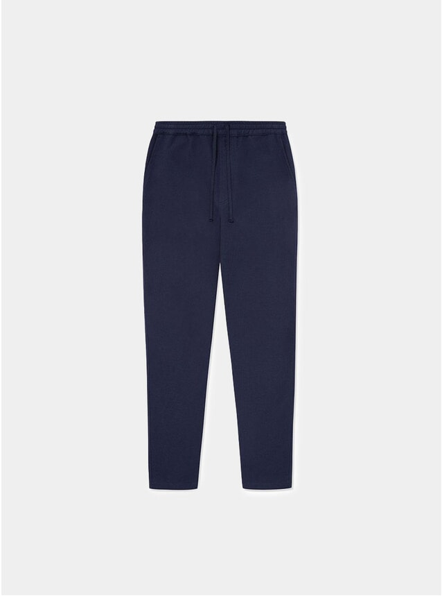 Navy Texture Timeout Drawstring Trouser
