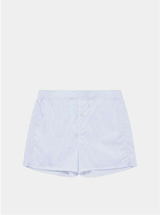 White / Blue Stripe Boxer Shorts