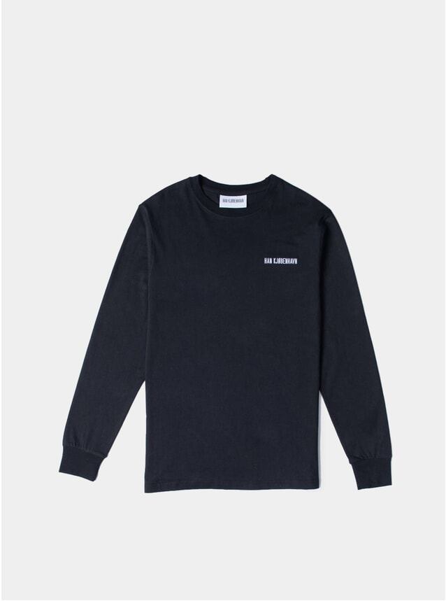 Black Logo Casual Long Sleeve T Shirt