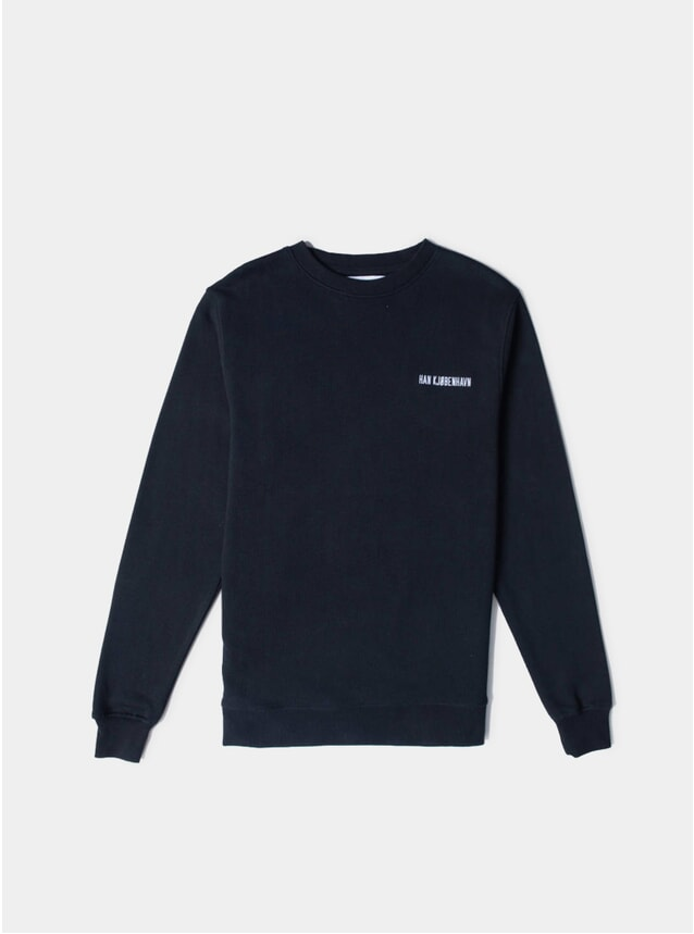 Black Logo Casual Sweatshirt