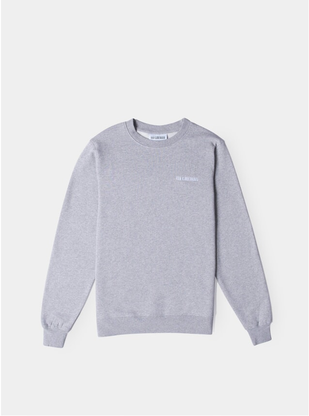 Grey Melange Logo Casual Sweatshirt