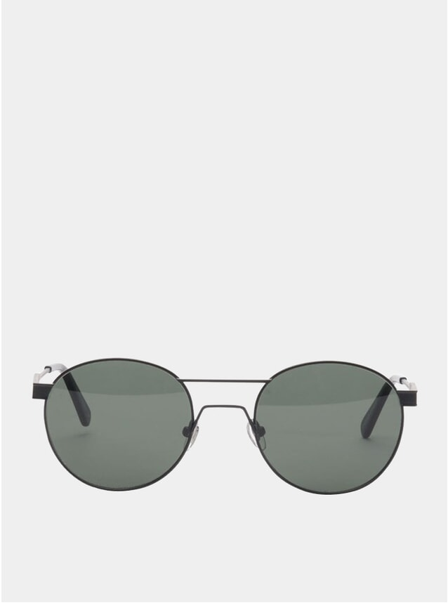 Matt Black Green Sunglasses
