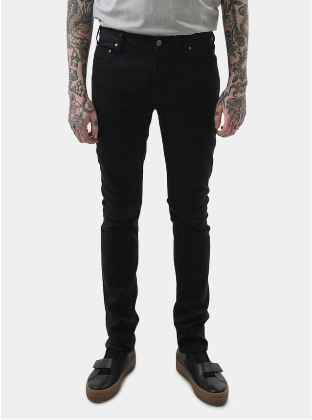 Black Lean Fitted Jeans