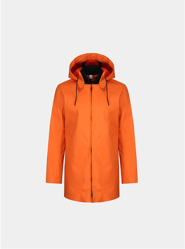 Orange Rib Collar Parka
