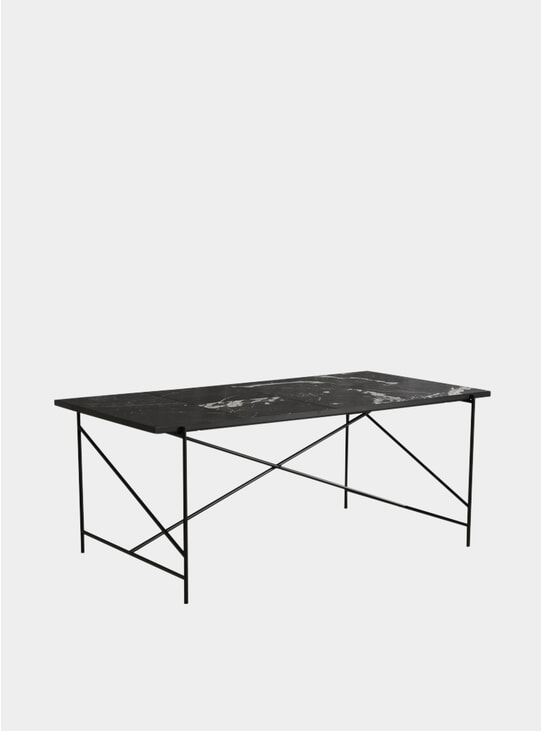 Black / Black 185 Dining Table