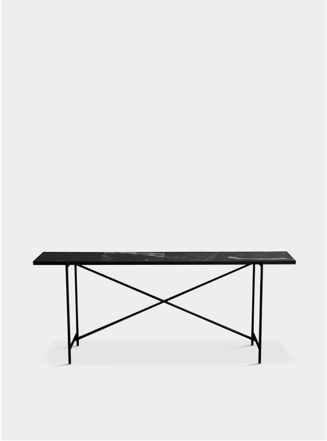 Black / Black Marble Console
