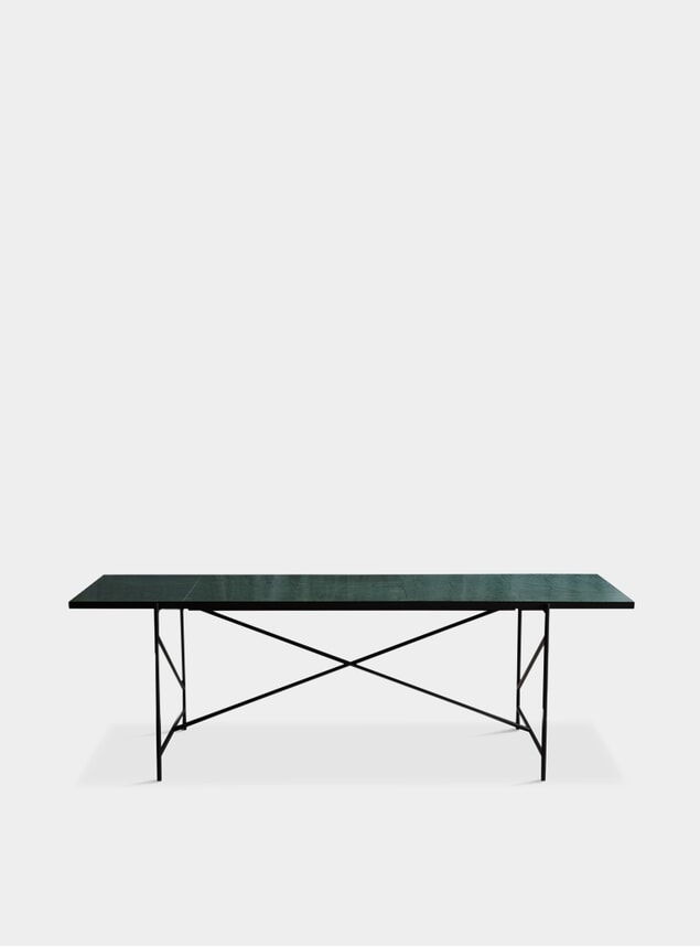 Black / Green Marble Dining Table