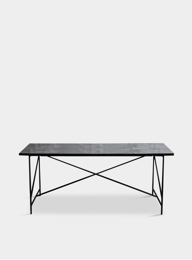 Black / Grey 185 Dining Table