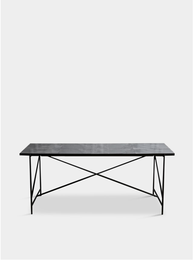 Black / Grey 185 Dining Table