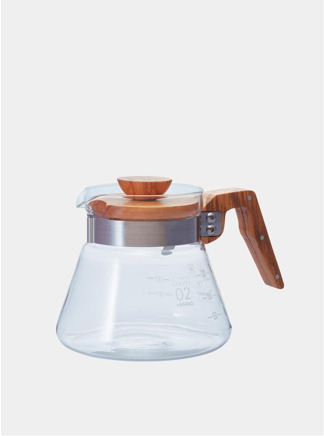 Olive Wood V60 Glass Coffee Server